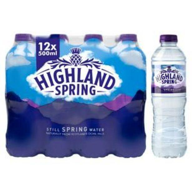 Highland Spring Still Water 12x500ml offer at £3