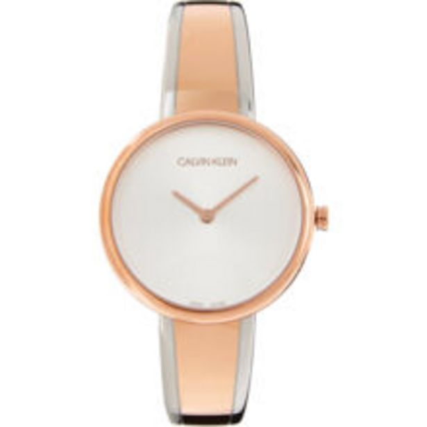 Silver & Rose Tone Analogue Bangle Watch offer at £48