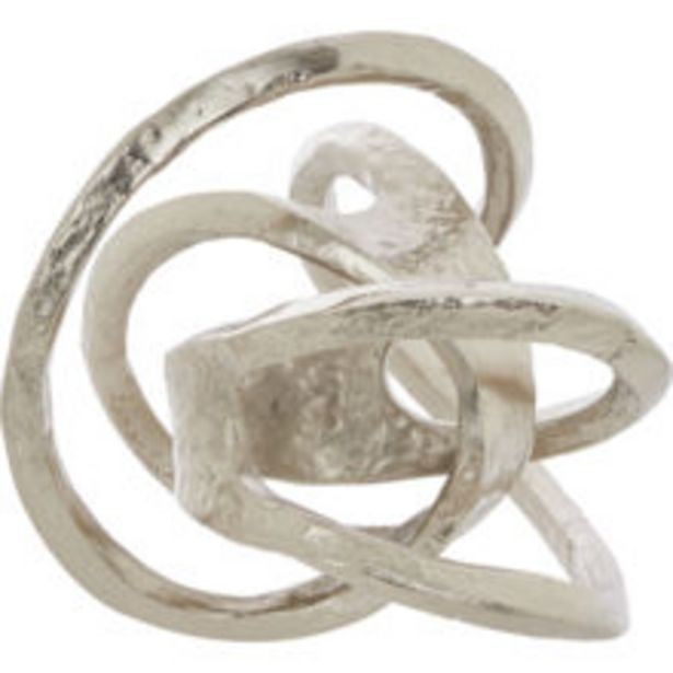Silver Tone Knot Ornament 25x25cm offer at £29.99