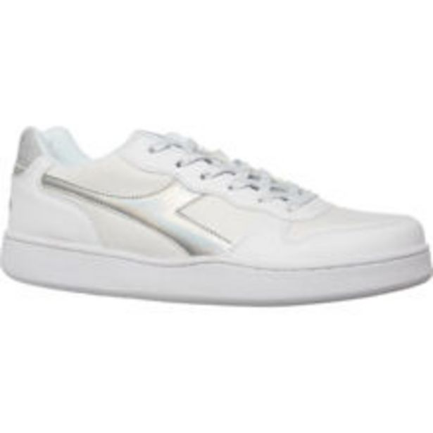 White & Silver Branded Trainers offer at £29.99