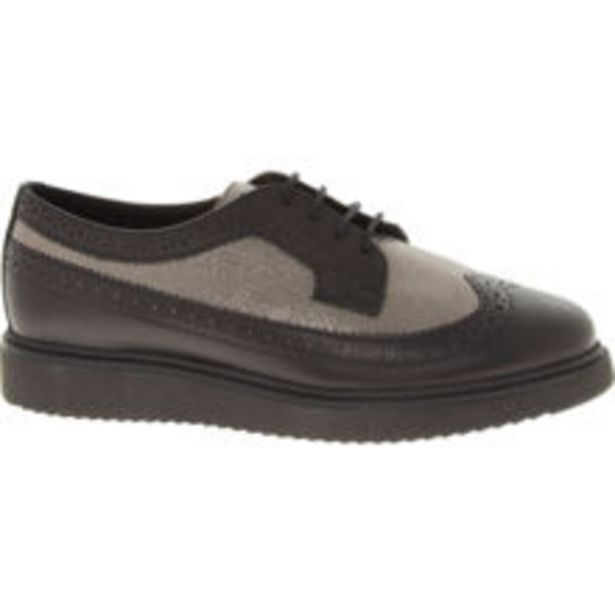 Black & Silver Toned Leather Brogues offer at £20