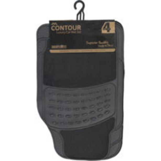 Black Luxury Contour Car Mat Set offer at £16.99