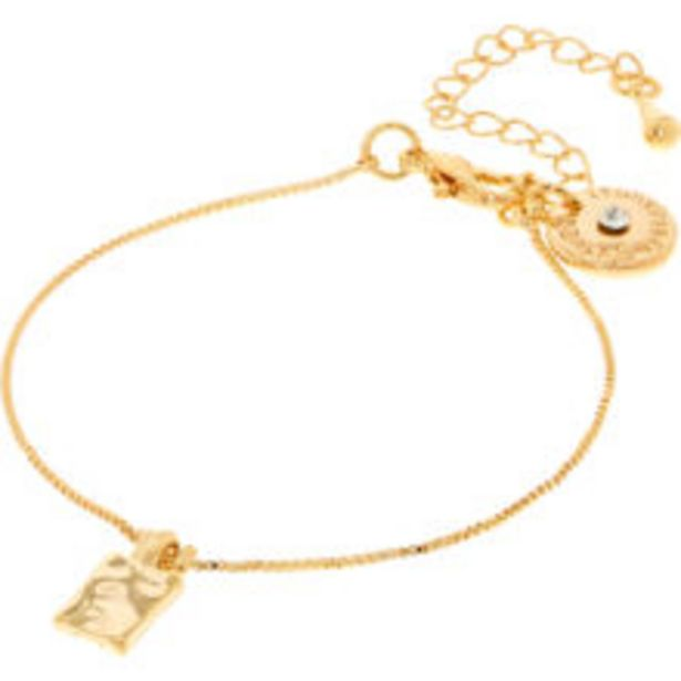 14ct Gold Plated Alma Square Bracelet offer at £6