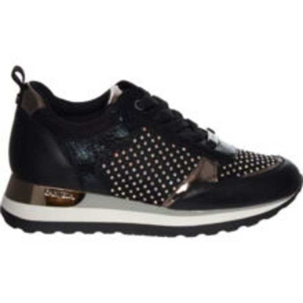 Black & Silver Diamanté Ling Trainers offer at £24.99