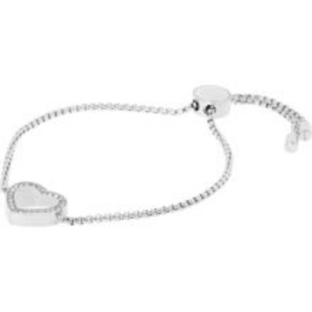 Silver Tone Adjustable Heart Bracelet offer at £29.99