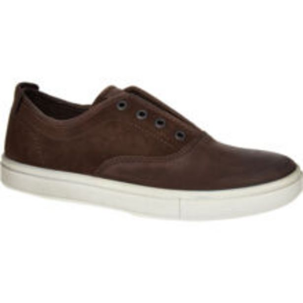 Coffee Brown Leather Suede Kyle Trainers offer at £34.99