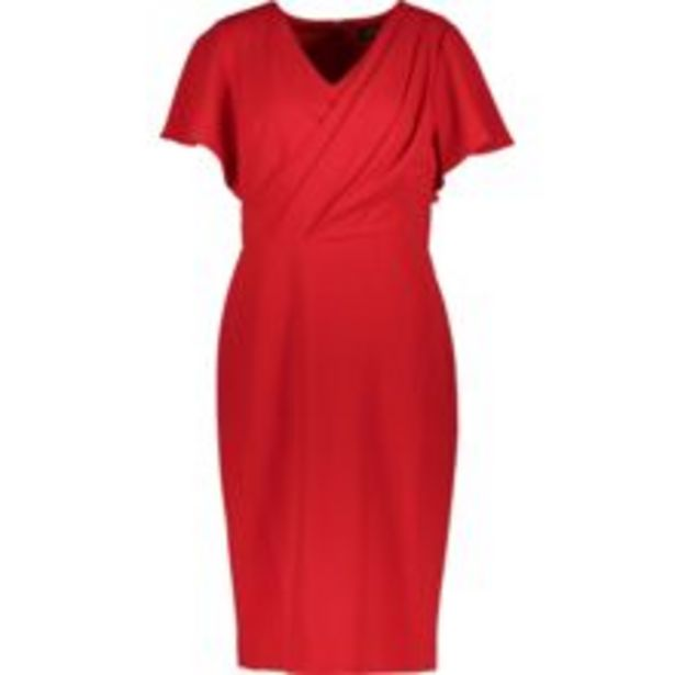Red Foldover Wrap Dress offer at £39.99