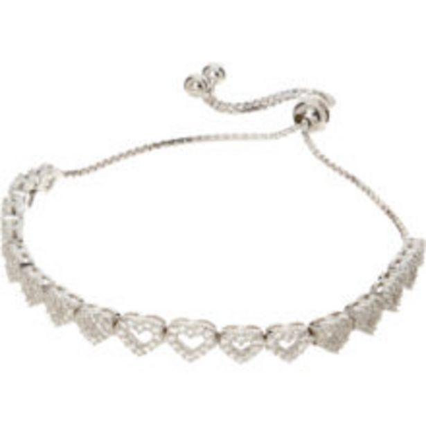 Sterling Silver Crystal Heart Bracelet offer at £24.99