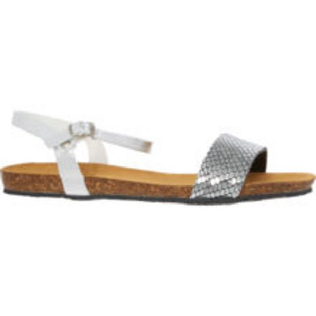 Silver Metallic Reptile Effect Sandals offer at £14