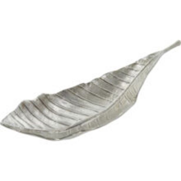 Silver Curved Leaf Dish Ornament 18x51cm offer at £16.99