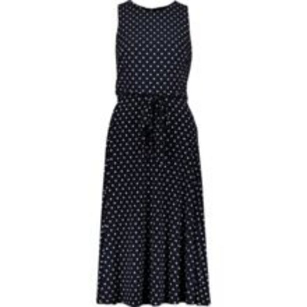 Navy Polka Dot Belted Dress offer at £34.99