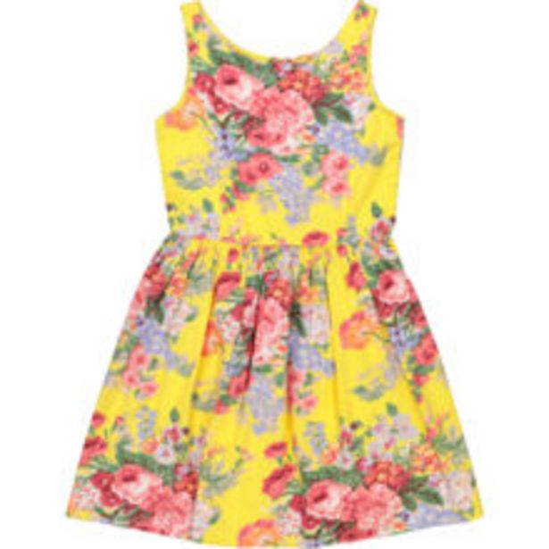 Yellow Floral Sleeveless Dress offer at £24.99