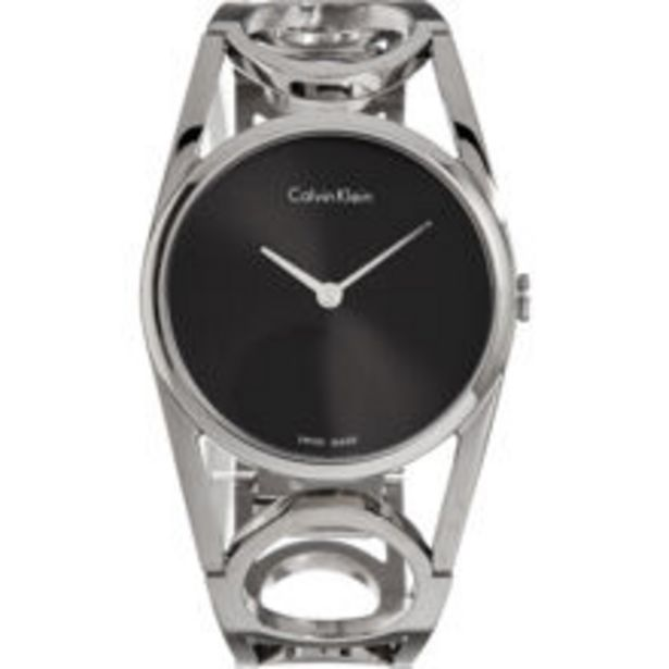 Silver Tone Cut Out Strap Watch offer at £40