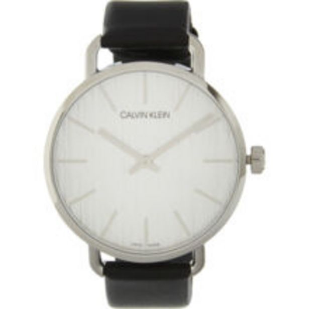 Black Leather Analogue Watch offer at £39.99