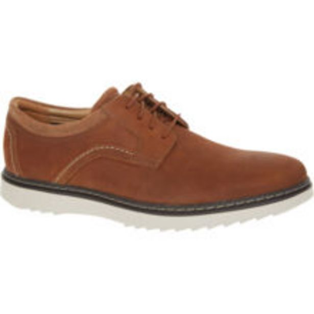 Dark Tan Leather Nubuck Un Geo Lace Shoes offer at £28