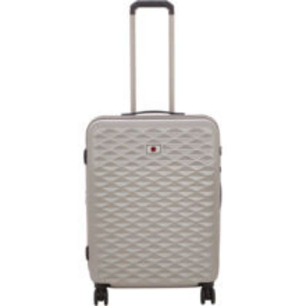 Medium Silver Tone Lumen Hardshell Suitcase offer at £49.99