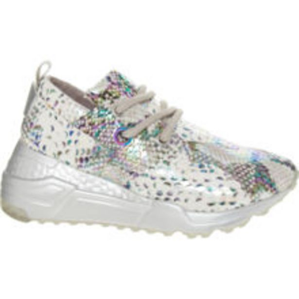 White & Silver Reptile Print Trainer offer at £19.99