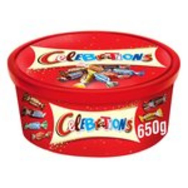 Celebrations Chocolate Tub offer at £3.99