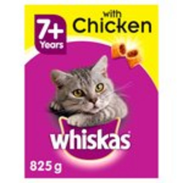Whiskas Complete 7+ Senior Dry Cat Food with Chicken offer at £2