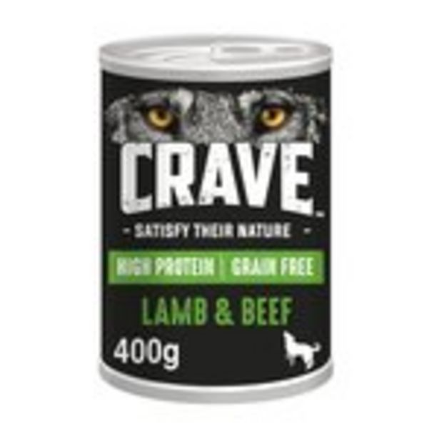 Crave Adult Dog Food Can With Lamb & Beef In Loaf offer at £2