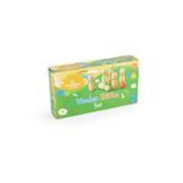 Morrisons Wooden Skittle Set offer at £8