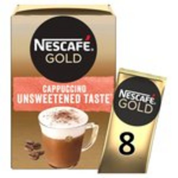 Nescafe Gold Cappuccino Unsweetened Instant Coffee 8 x Sachets offer at £1.5
