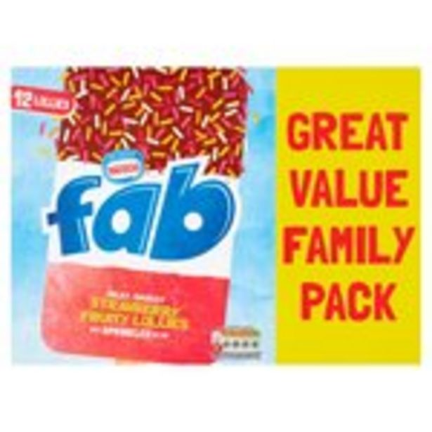 Nestle Fab Bumper Pack offer at £3