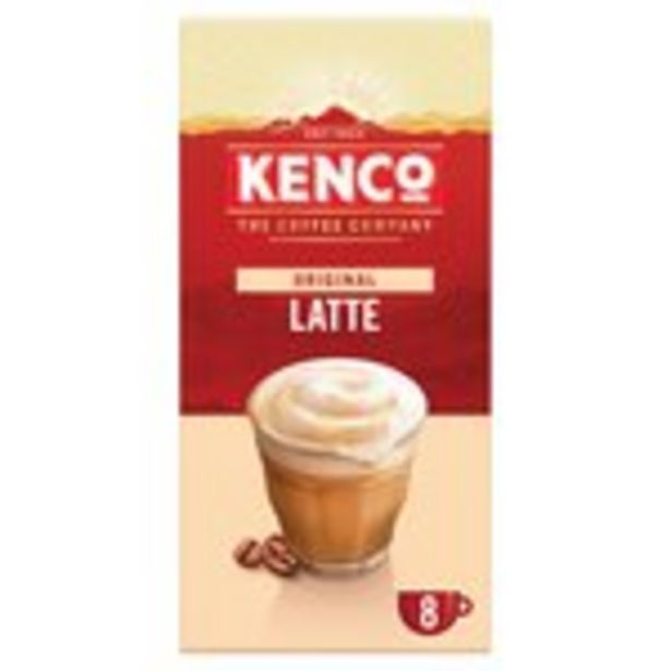 Kenco Latte Instant Coffee 8 Sachets offer at £1.5