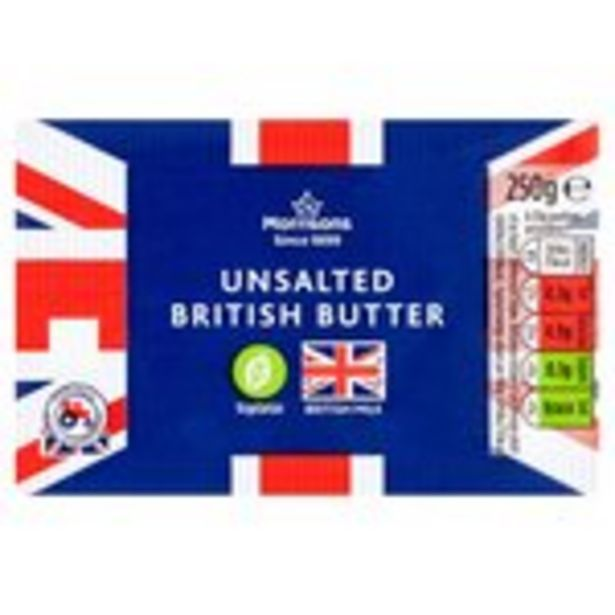 Morrisons Unsalted British Butter offer at £1.49