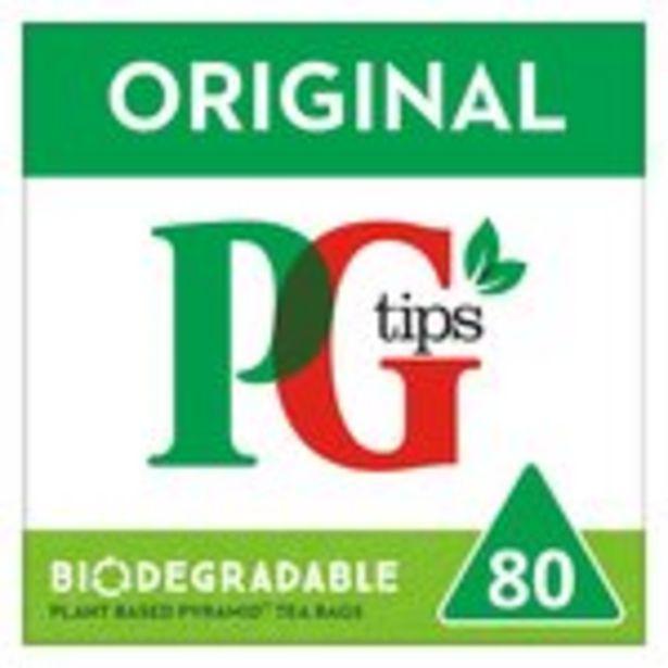 PG tips Original 80 Tea Bags offer at £2