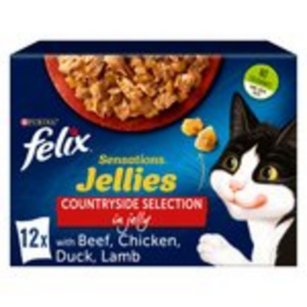 Felix Sensations Jellies Cat Food Meat offer at £4