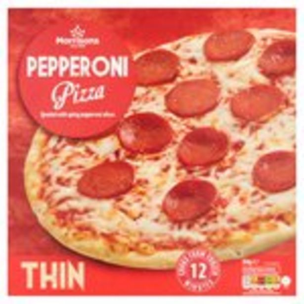 Morrisons Thin Pepperoni Pizza offer at £0.69