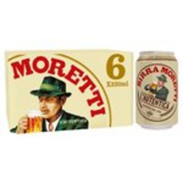 Birra Moretti Lager Beer Cans offer at £6.5