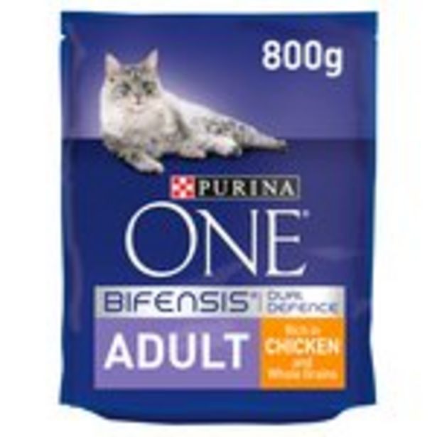 Purina ONE Adult Dry Cat Food Chicken & Wholegrains offer at £4