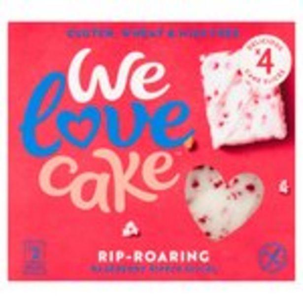 We Love Cake Rip Roaring Raspberry Ripple Slices offer at £1.6