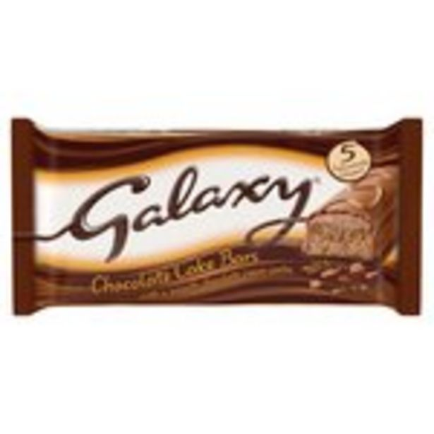 Galaxy Chocolate Cake Bars offer at £1.65
