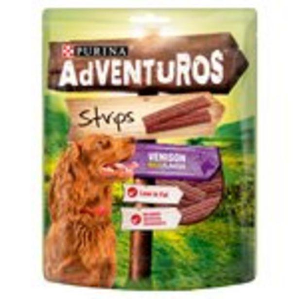Adventuros Strips Dog Treat Venison Flavour offer at £1