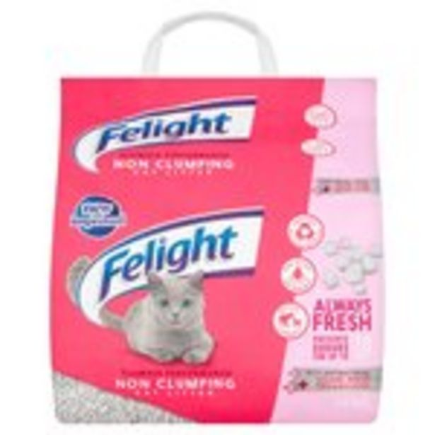 Felight Antibacterial Non-Clumping Cat Litter offer at £4.5