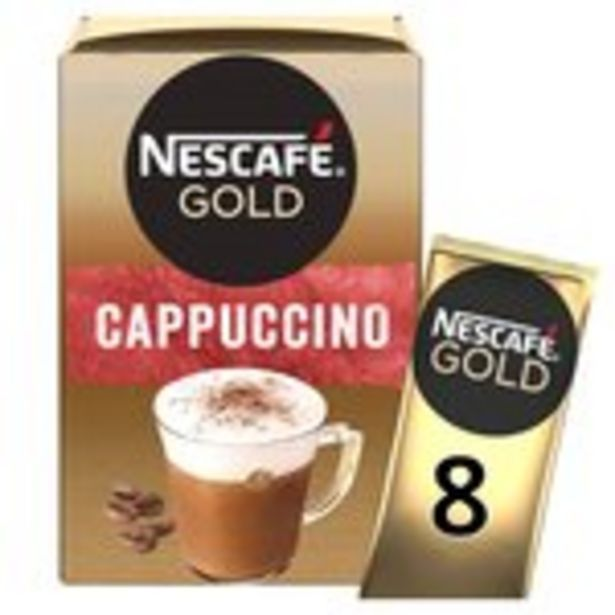 Nescafe Gold Cappuccino Instant Coffee 8 x Sachets offer at £1.5