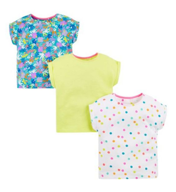 Mini Club 3 Pack Short Sleeve Tops offer at £5