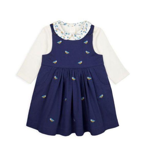Navy Bird Pinny Dress And Bodysuit Set offer at £9