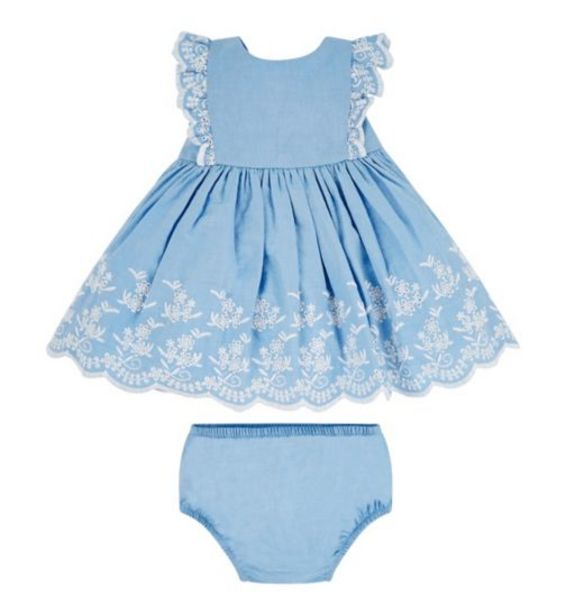 Mini Club Chambray Dress And Knicker Set offer at £8