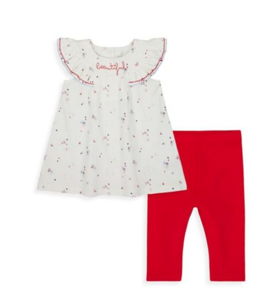 Frill Sleeve Dress And Legging Set offer at £5