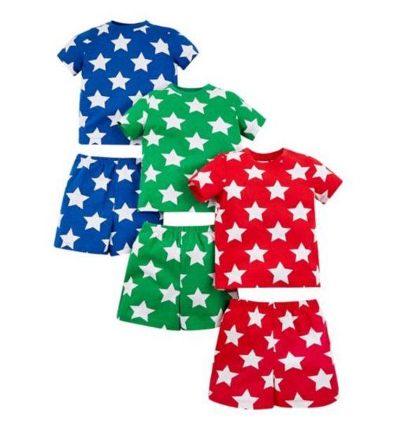 Mini Club 3 Pack Star Shortie Pyjamas offer at £9