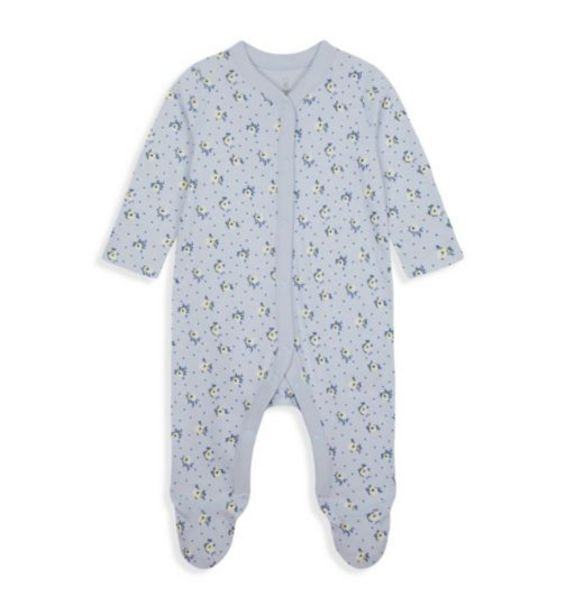 Blue Ditsy-Floral Organic Cotton All In One offer at £3