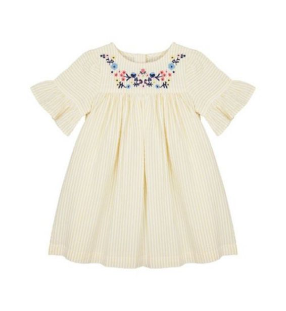 Yellow Seersucker Emborded Dress offer at £7
