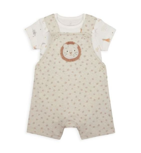 My First Lion Bibshorts And Bodysuit Set offer at £6
