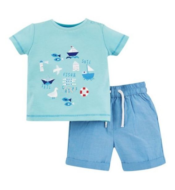 Mini Club Seaside T-Shirt And Short Set offer at £6