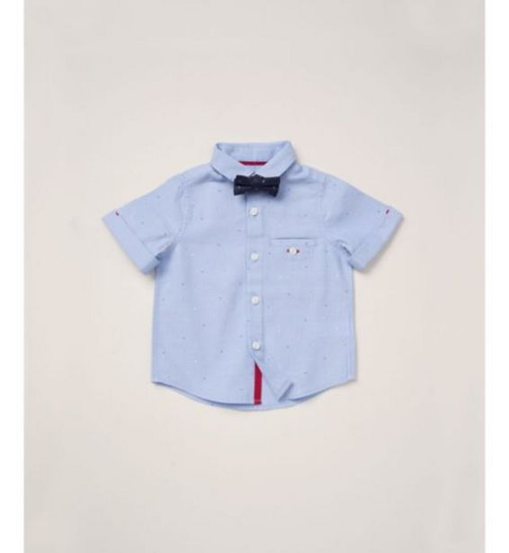 Mothercare special collection blue shirt with bowtie offer at £6.5
