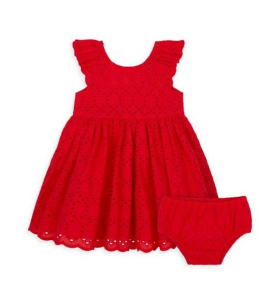 Red Broderie Dress offer at £10